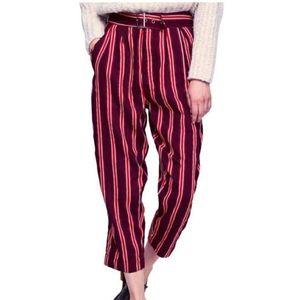 Free People/ Seemed Like stripe crop pants